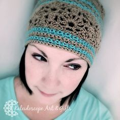 Lovely Lily Slouchy Hat~Kaleidoscope Art&Gifts~12 Months of Slouchy Hats. #handmade #crochet