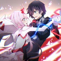 Manga Couple Hiro x Zero two Post - More memes, funny videos and pics on Anime Chibi, Chica Anime Manga, Kawaii Anime, Otaku Anime, Anime Shop, Hxh Characters, Tamako Love Story, Film D'animation, Estilo Anime