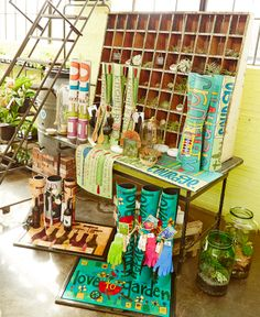 """Gift 2 Go ideas!! Roll up a mat and pair it with coordinating products to make the perfect gift. For example, we paired our """"Love to Garden"""" MatMate with a hand trowel, gloves, and seed packets - a great gift for a gardener!"""