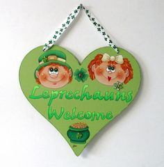 St. Patrick's Day Door Hanger St. Patrick's Day Boy