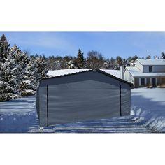 Arrow Carport Enclosure Kit, 20 x 20 ft, Outdoor Carport Canopy Kit (Carport not Included) - Walmart.com - Walmart.com Carport Covers, Carport Canopy, Layered Weave, Canopy Frame, Storage Solutions, 2 In, Outdoor Gear, Arrow, Walmart