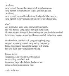 Quotes Indonesia Fiersa Besari Ideas For 2019 Quotes Rindu, Rain Quotes, Like Quotes, Simple Quotes, Reminder Quotes, Good Night Quotes, Tumblr Quotes, Amazing Quotes, Book Quotes