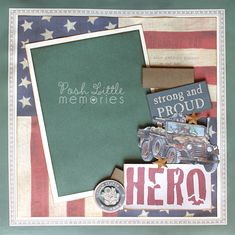 military scrapbook page ideas
