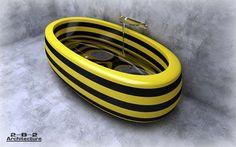 Bright Striped Bathtubs 2