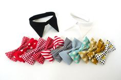 Make your own shirt collar with bow tie White shirt or Black shirt for wedding party ring bearer girl dog and cat, Pet Wedding Accessory on Etsy, $29.00