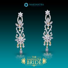 The pride in her walk, the charm in her talk, the essence of a bride is reflected in her jewels.  #Diamonds #Earrings #Twinkle #MillionStars #Stars #Eternal #NightSky #Beautiful #Gift #GiftForOccassion #BridalWear #Bride #Shimerring