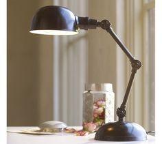 Harrison Task Bedside Lamp, Antique Bronze finish - Pottery Barn