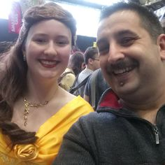 Hussein Al-alak and Belle at the MCM Comic Convention in #Manchester.