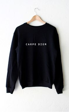 Carpe Diem Sweater - Black