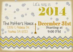 New Year Party Invitation/ Printable Chalkboard by RiverBound