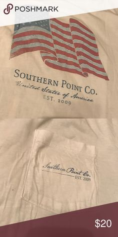Men's Southern Point Co Short Sleeve Tee Men's Medium, short sleeve. Worn literally one time and just never picked it up again. Just sits in my drawer Southern Tide Shirts Tees - Short Sleeve