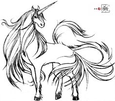 Unicorn style by ChuChu-Horse on DeviantArt Unicorn And Fairies, Unicorn Fantasy, Unicorn Art, Unicorn Sketch, Emoji Coloring Pages, Coloring Book Pages, Coloring Sheets, Fantasy Warrior, Fantasy Art
