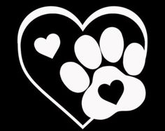 Cricut Vinyl, Vinyl Decals, Car Decal, Wall Stickers, Wall Decals, Wall Art, Coeur Tattoo, Dog Tattoos, Dog Paws