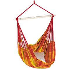 Amazonas Brasil Hanging Chair - Papaya ($110) ❤ liked on Polyvore featuring home, outdoors, patio furniture, hammocks & swings, orange, outdoor hammock, amazonas hammock and outdoor hanging chair