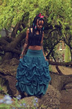 Manaka is so awesome!! That is all lol  Twilight  OOAK Bohemian ruched draped skirt by manakahandmade, £60.00