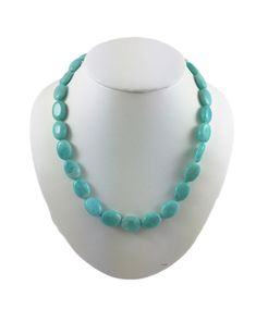 """Amazonite Necklace with Sterling Silver Clasp, 17"""", Handmade Women's Necklace by ClarielDesigns on Etsy"""