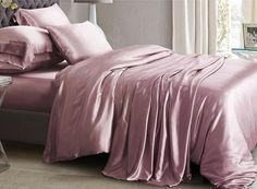 Silk Bedding, Bed, Home, Sheets