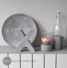 Concrete look with Abbondanza Gritty Paste Cement Crafts, Concrete Projects, Beton Diy, Painting Concrete, Diy Canvas Art, Diy Clay, Painting Techniques, Diy And Crafts, Projects To Try