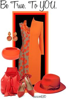 """""""Don't Re-Orange Yourself for Anyone!"""" by tezza630 on Polyvore  03.03.2013"""