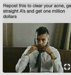 My guy I'm not wanting acne ok Funny Texts, Funny Jokes, Hilarious, Fandoms Unite, Teen Posts, Teenager Posts, Trance, Chain Messages, Faith In Humanity