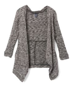 Limited Too Heather Gray Open Cardigan - Toddler & Girls by Limited Too #zulily #zulilyfinds