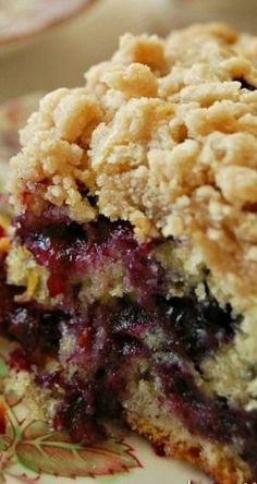 Blueberry Burst Crumb Cake