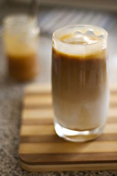 What makes a Caramel Macchiato, in my mind, is the wonderful layers. First sweet milk (milk and flavoring), then fresh espresso, topped with warm caramel sauce. Unmixed, the contrast of the bitter espresso and the sweet milk with caramel is the definition of bliss. Perfecto!