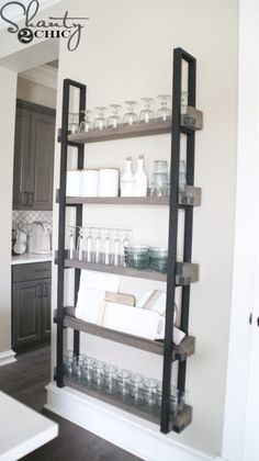 DIY Floating Plate Rack