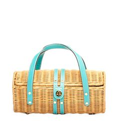 I have a similar vintage basket purse, but mine does not have the color pop this has!