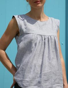 Alice Dress/Top – this smock style top/dress features a self lined yoke bodice with sh...