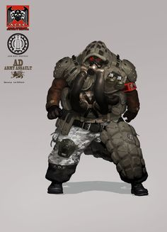 """randomghost: """" SF Concept Human Heavy Soldier by Jerry Park """" Space Character, Character Concept, Concept Art, Cyberpunk Games, Cyberpunk Rpg, Ninja, Mechanical Art, Future Soldier, Sci Fi Characters"""