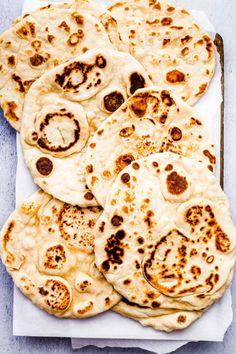 Sandhya's Kitchen - Quick & Easy Vegetarian Recipes Yogurt Flatbread Recipe, Flatbread Recipes, Healthy Bread Recipes, Vegetarian Recipes Easy, Easy Recipes, Side Dishes Easy, Side Dish Recipes, Vegan Chana Masala, Best Indian Recipes