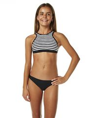 JETS KIDS GIRLS MOD HIGH NECK CROP BIKINI