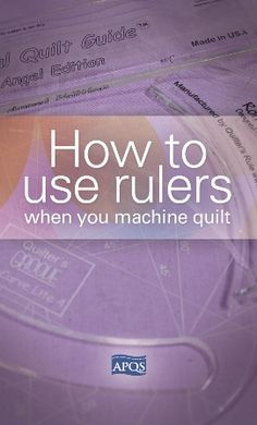 Blog - How do you properly use rulers when you quilt?