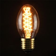 Incandescent Bulbs ST58 E27 40W Retro Edison Light Bulb AC 110-120V