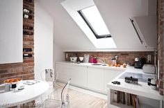 attic kitchen - skylight