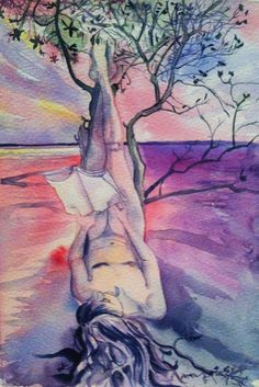 the dreamer's roots, watercolour