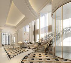 staircase lounge design-Qatar Doha