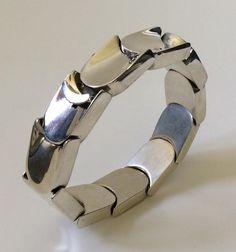 Antonio Pineda Design Sterling Silver Modernist Bracelet, Taxco