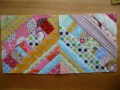 Miss Print: Tutorial: Pieced Centre String Quilt Block