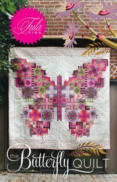 Butterfly Quilt Pattern  Tula Pink  Ships by StashModernFabric, $24.95