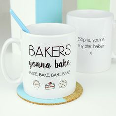 Bakers Gonna Bake Emoji Mug