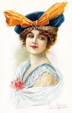 Vintage Lady   More vintage postcards: Haughty ladies and naughty ladies