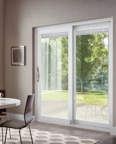 This patio door has a smooth, rattle-free glide, keeps out water and air, and has an easy glide screen. Timber Windows, Small Windows, Windows And Doors, French Doors Patio, Sliding Patio Doors, Windsor Windows, Replacement Patio Doors, Last Door, Glass Fit