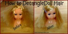 how to detangle doll hair tutorial - Karima's crafts
