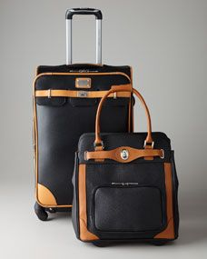 Luggage...carry on and one size bigger than carrier on. Again, not suggesting this brand style.