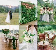 Organic & Modern Aspen Wedding. Photos by Rachel Havel