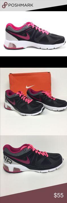 Nike Air Max Run Lite 4 Running Shoe 554894002 Awesome running shoes by Nike. AirbMax Run Lite4 style. Color is black, sport fuschia, Metallic grey dark grey. Brand new in box Nike Shoes Sneakers