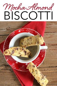 Mocha Almond Biscotti, an easy and delicious Italian cookie recipe. The combination of almonds, coffee and chocolate make it the perfect holiday cookie. This easy biscotti recipe is perfect to add to your Christmas cookie collection, and give as gifts to friends and family! | anitalianinmykitchen.com #mocha #almond #chocolate #coffee #biscotti #italian #christmascookie