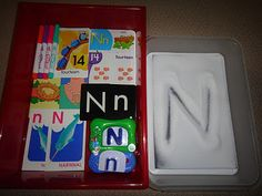 Salt box for practicing writing letters and numbers.  Could make with pretty colored salt and then let her practice.